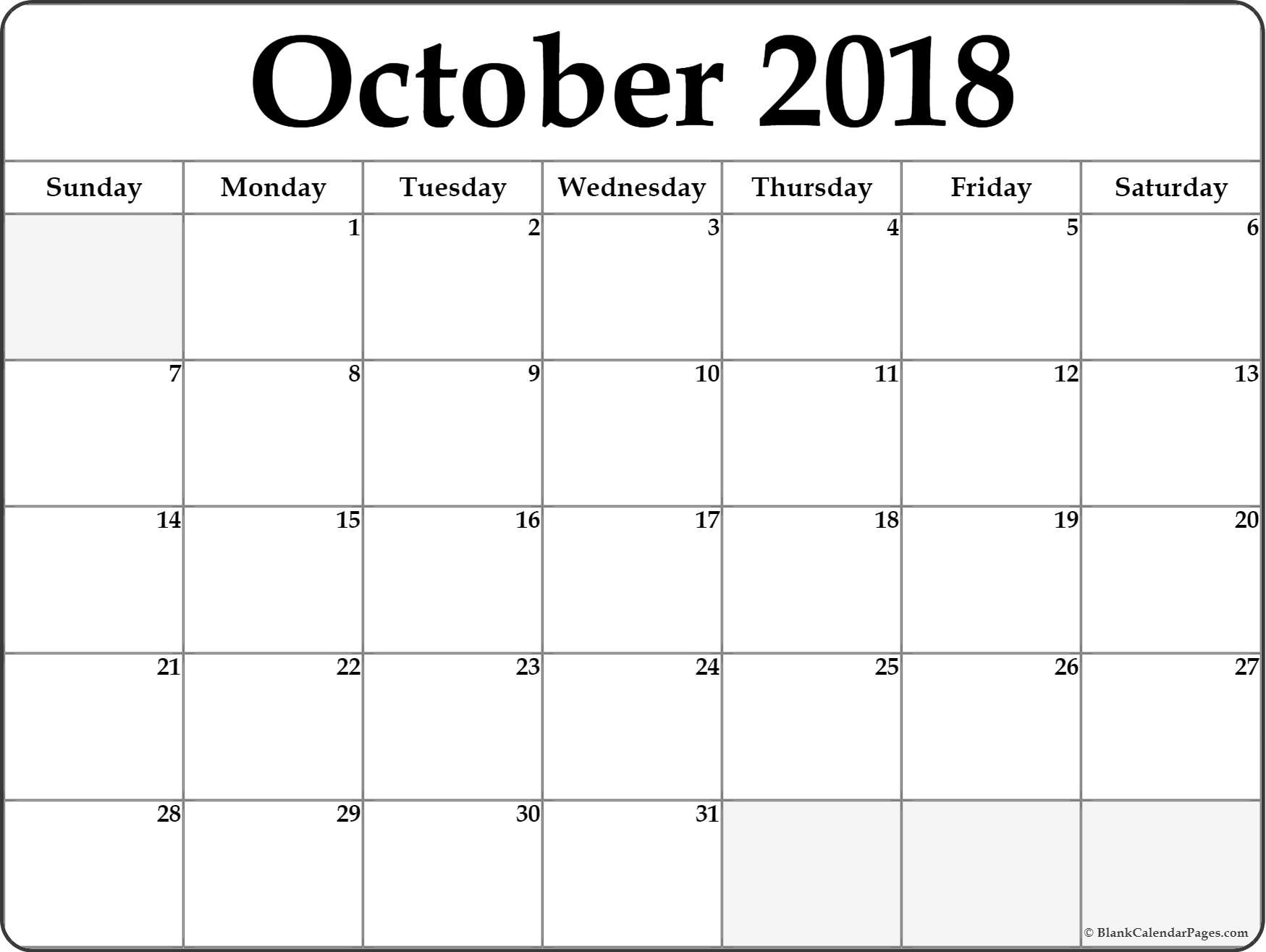 October 2018 Calendar B4 Mainstage Center For The Arts