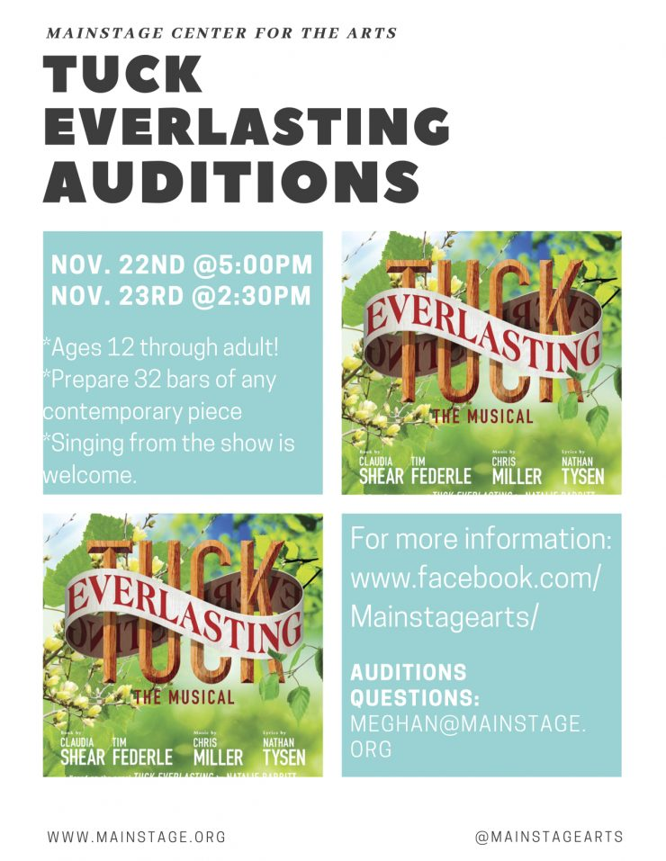 Tuck Everlasting Auditions