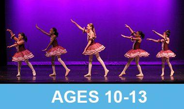Five dance studios performing in their recital.