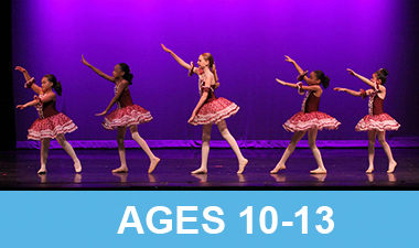 Five dance studios performing in their recital.